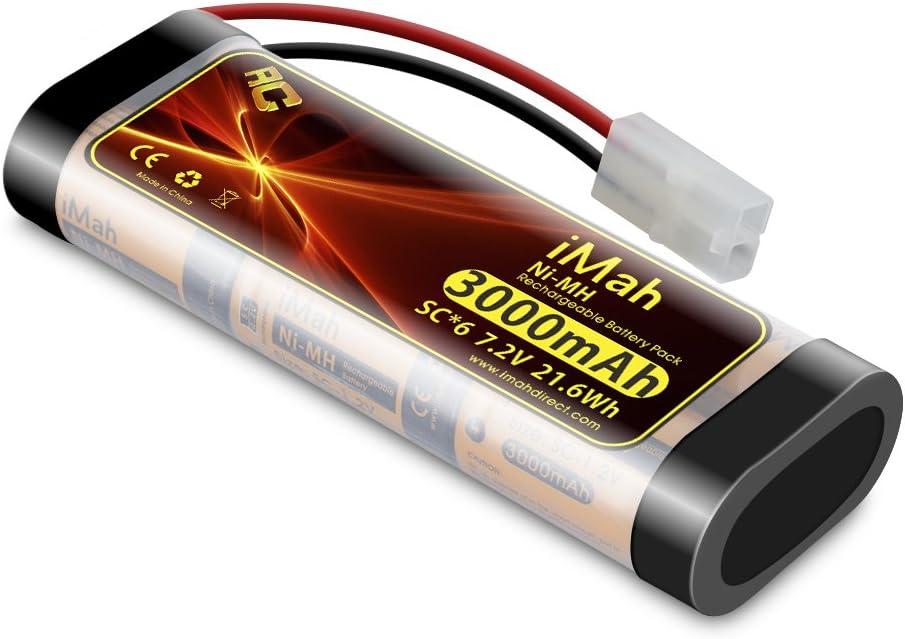 Batería iMah SC6 7.2V 3000mAh Ni-MH RC Auto, Camion, Barco