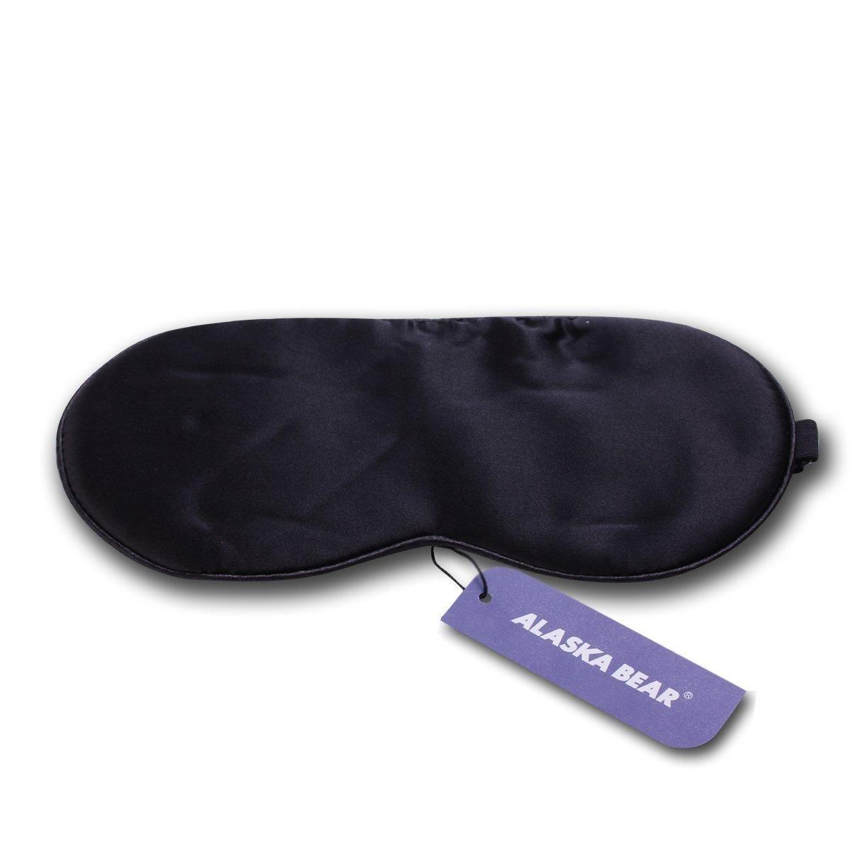 ALASKA BEAR® Natural silk sleep mask & blindfold, super-smooth eye mask (One Strap(w/Nose Baffle))