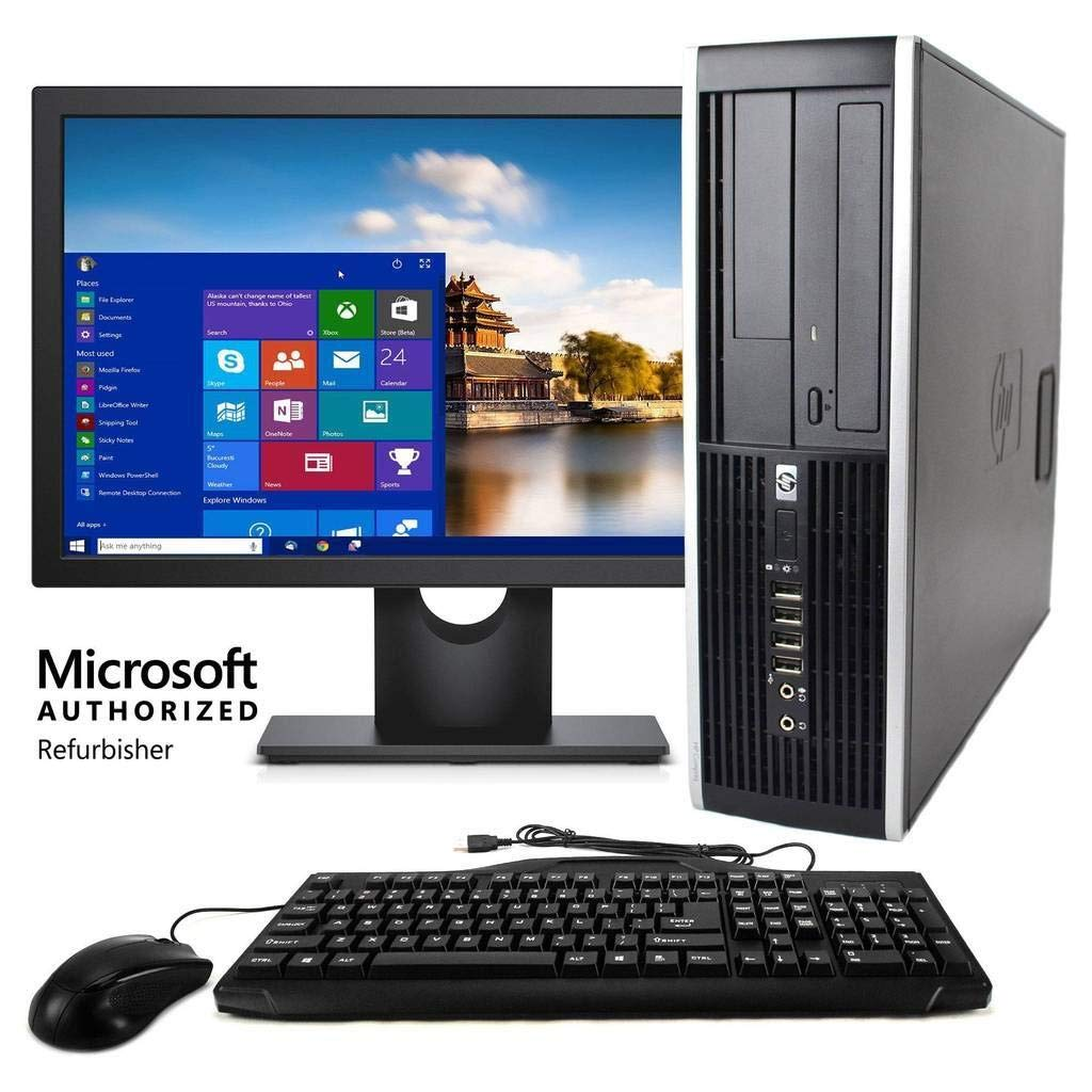 HP Elite 7900 Desktop PC Package, Intel Core 2 Duo Processor, 8GB RAM, 500GB Hard Drive, DVD-RW, Wi-Fi, Windows 10, 19in LCD Monitor (Renewed) by HP