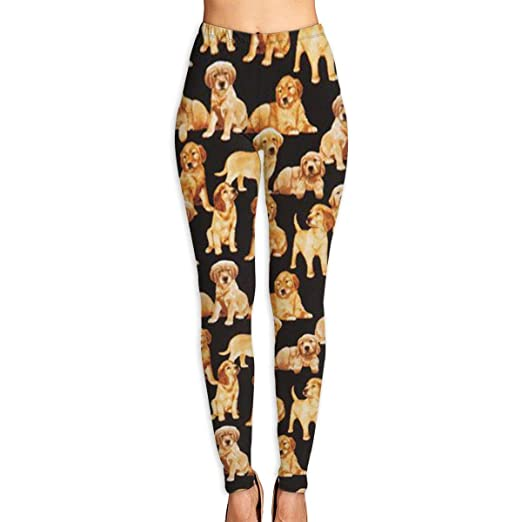 b8bce916747b2 Amazon.com: SDEYR79 Black Golden Retriever Dog Puppy Women's Yoga Leggings  Running Tights Sports Leggings: Clothing