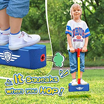 ATOPDREAM Toys for 3-12 Year Old Girls,Birthday Gifts for Kids Foam Pogo Jumper Stick Toys for Kids 4-12 Year Old Outdoor Toys for Children Festival Presents Toys Age 4-10 Christmas Stocking Blue