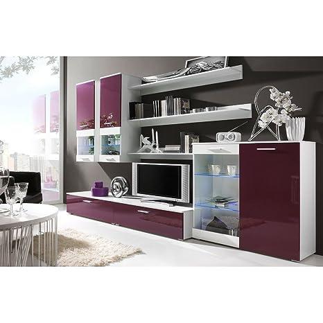 JUSTyou Cami I Muebles de salón Comedor Color: Blanco Mat/Violeta Brillante