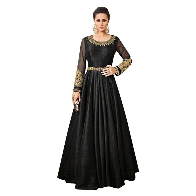 Negro étnica Boda especial vestido Anarkali Vestido Fiesta Desgaste Traje Salwar directo Chica Diseñador Bollywood 573