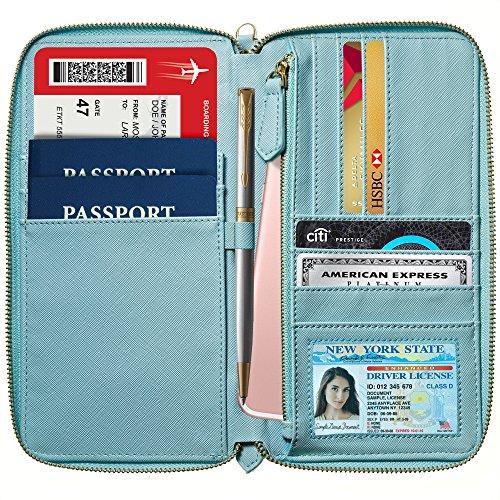 Women Travel Wallet for Women RFID Blocking Wallet