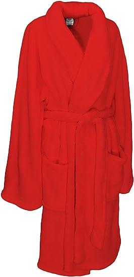Amazon Com Martha Stewart Collection Plush Comfort Bath Robe Red Home Kitchen