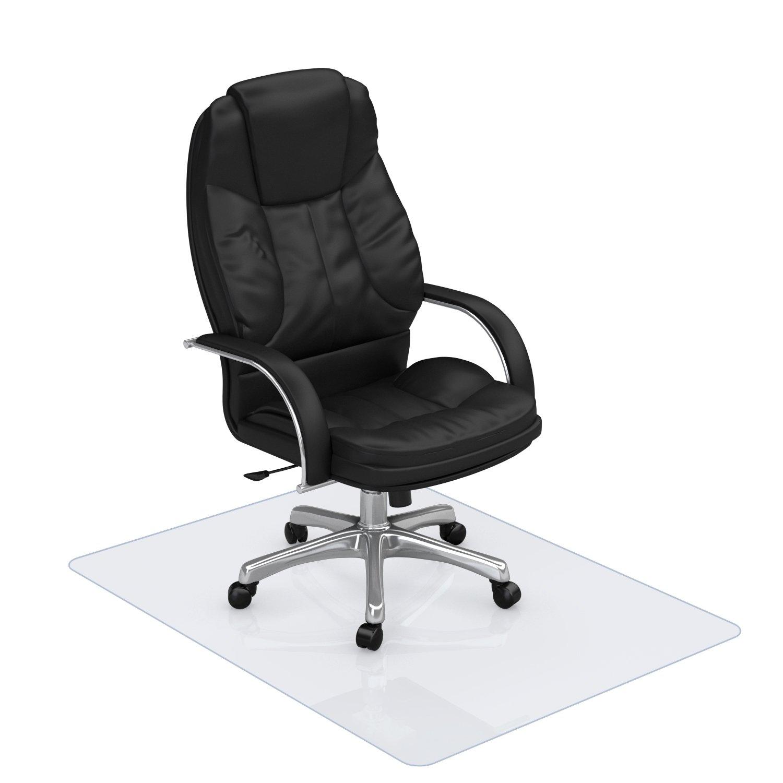 Clear Hard Floor Chair Mat - 1/16 Thick 47'' X 35'' Rectangular Chair Mat for Hardwood Floor, BPA Free Anti Slip PVC Multi Purpose (Office, Home) Floor Protector