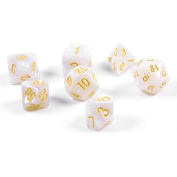 shibby 7 cubos poliédricos (juego de dados) para juegos de rol y ...