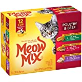 Meow Mix Tender Favorites Poultry & Beef Wet Cat Food Variety Pack, 2.75 oz Cups (Pack of 48)