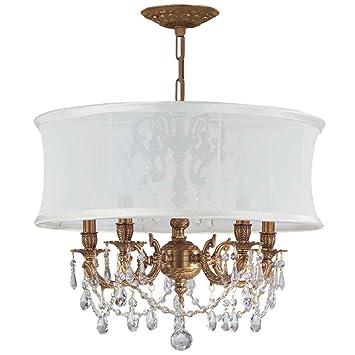 Amazon.com: crystorama iluminación 5535-ag-smw-clq – Lámpara ...