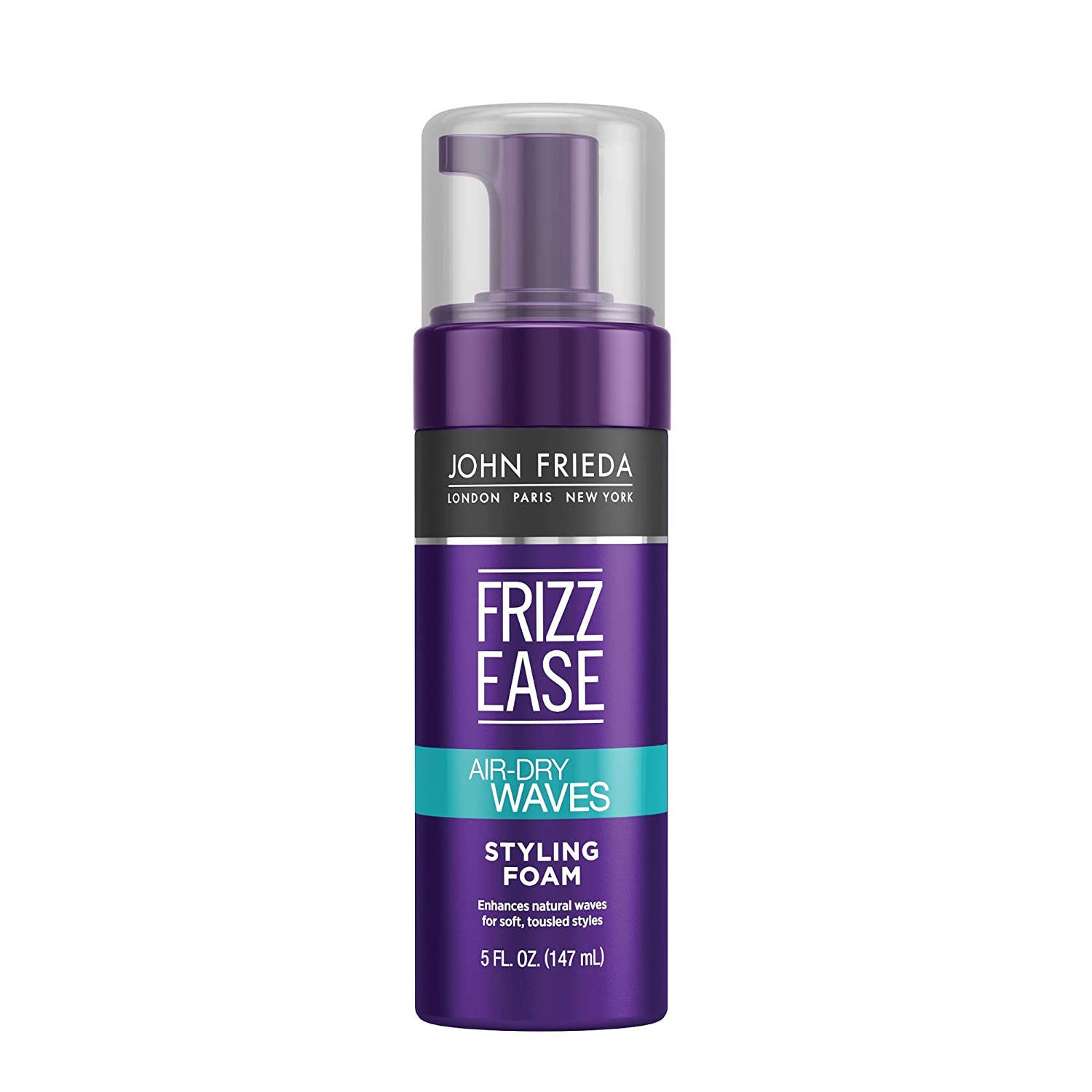 Amazon Com John Frieda Frizz Ease Dream Curls Air Dry Waves Styling Foam 5 Ounce Curl Defining Frizz Control For Curly And Wavy Hair Beauty