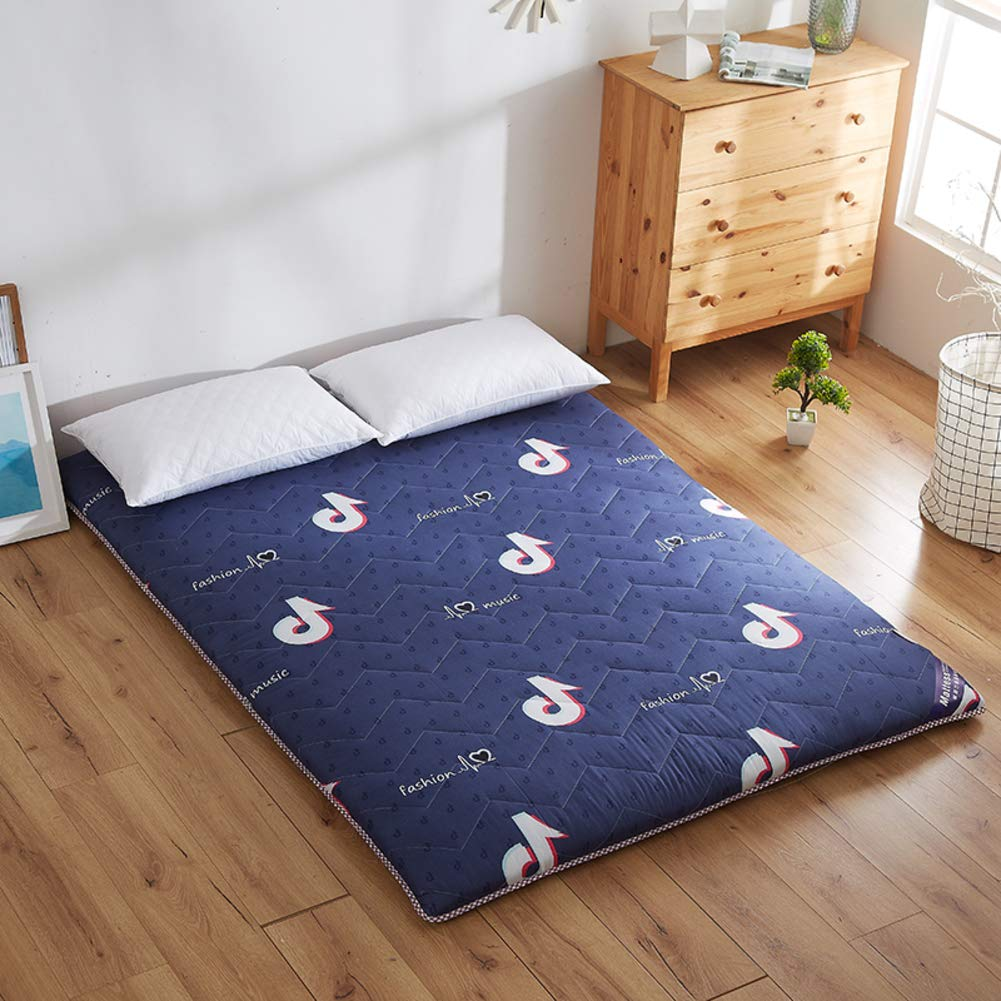 B Twin Tatami Sleeping Floor Mat, Foldable Futon Mattress Pad Topper Japanese Bed Roll for Studtents Dorm Home Meditaion -f Full