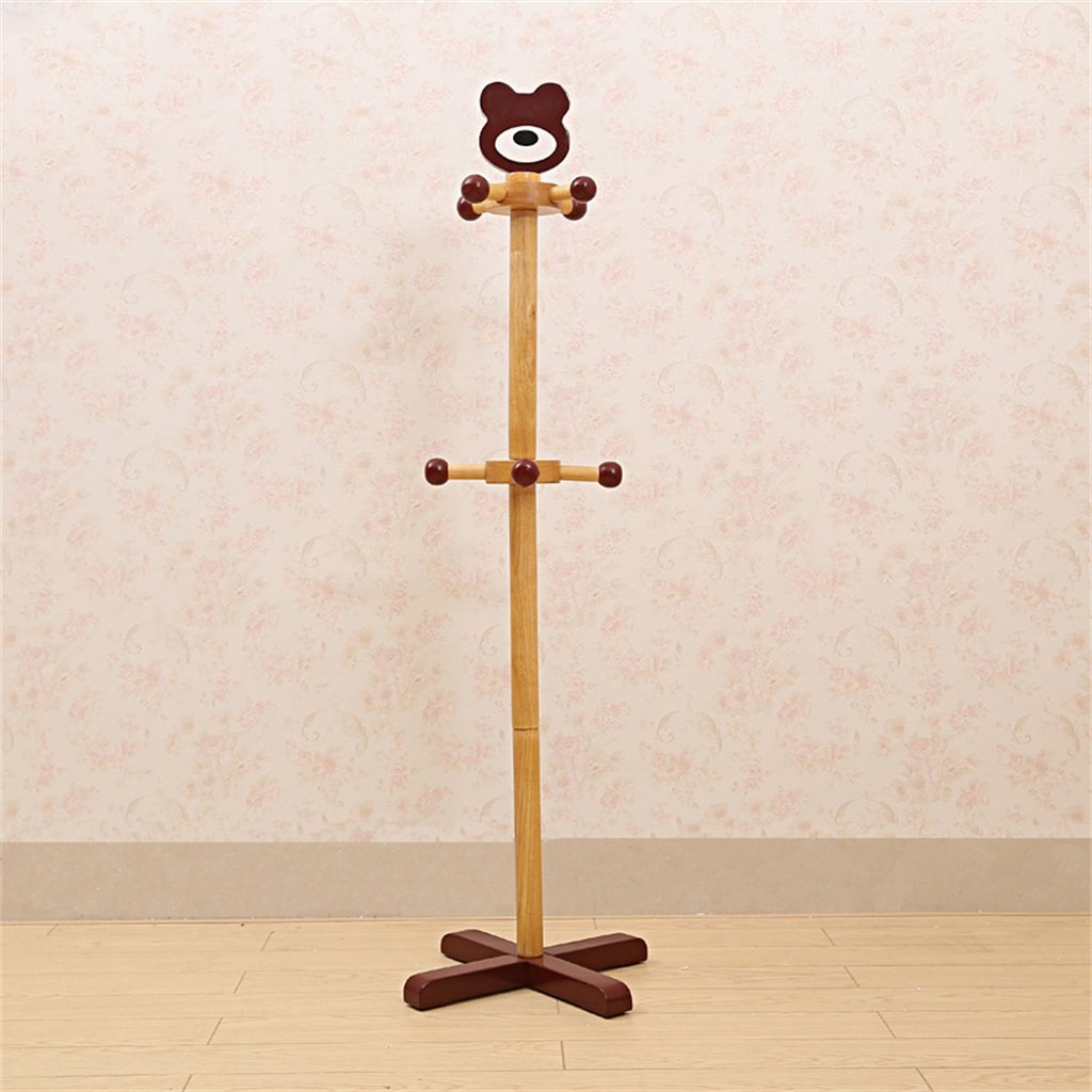 AIDELAI Coat Rack Children Solid Wood Coat Rack, Home Cartoon Personalized Fashion Creative Hanger(3737117cm) ( Color : C )