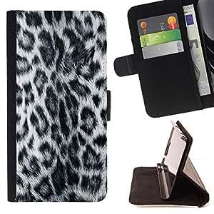Jordan Colourful Shop - panther leopard pattern grey furry style For Apple Iphone 6 - < Leather Case Absorci????n cubierta de la caja de alto impacto > -