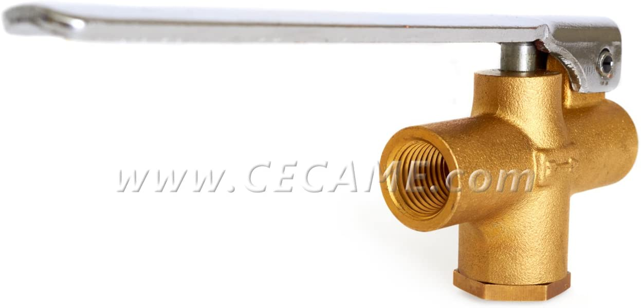 """Straight Carpet Cleaning Wand Angle Valve 1/4"""" Brass Truckmount Extractor"""