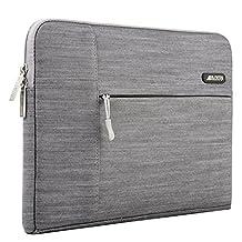 Mosiso Laptop Sleeve, Denim Fabric 15-15.6 Inch Laptop / Notebook Computer / MacBook Air / MacBook Pro Sleeve Case Bag Cover, Gray
