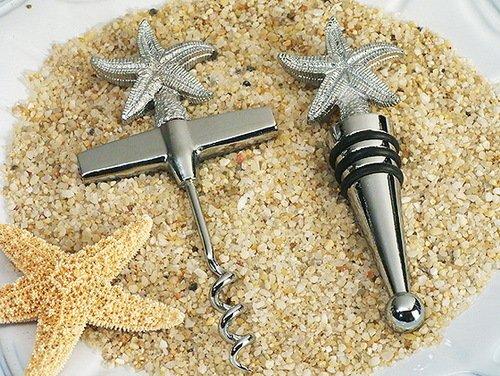 Beach Theme Starfish Wine Opener, Wine Stopper Set C1437 Quantity of 1