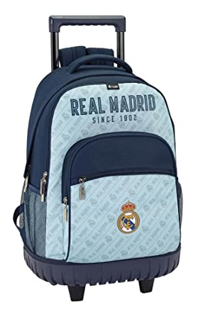 Safta Mochila Escolar Grande Con Ruedas Real Madrid Corporativa Oficial 320x140x460mm: Amazon.es: Equipaje