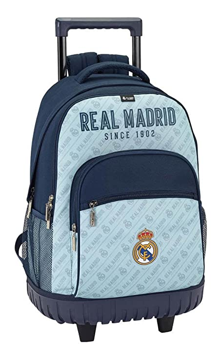 Safta Mochila Escolar Grande Con Ruedas Real Madrid Corporativa Oficial  320x140x460mm 6282b6b2b7c5f