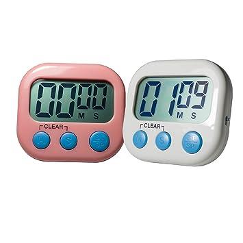 1fd280e2192 多目的デジタルキッチンタイマーアラーム磁気バックとスタンド 大型液晶ディスプレイタイマー,99分