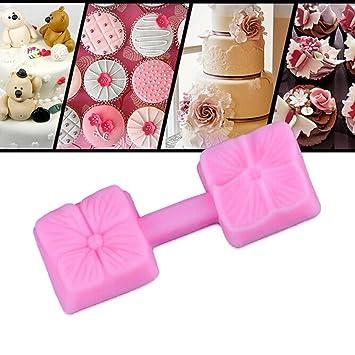 Jamicy Molde de silicona 3D para fondant de rosas, para pasteles, chocolate, azúcar, herramienta para molde: Amazon.es: Hogar