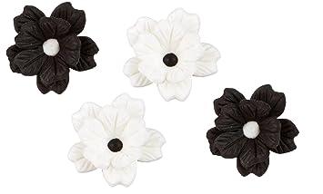 Amazon wilton 710 2219 layered flowers icing decoration black wilton 710 2219 layered flowers icing decoration blackwhite 12pack mightylinksfo