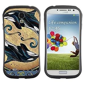 Hybrid Anti-Shock Bumper Case for Samsung Galaxy S4 / Cute Mice