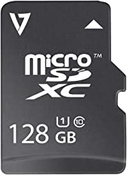 V7 VFMSD128GUHS1R-3N Flash Memory Card 128 GB MicroSDXC, Black