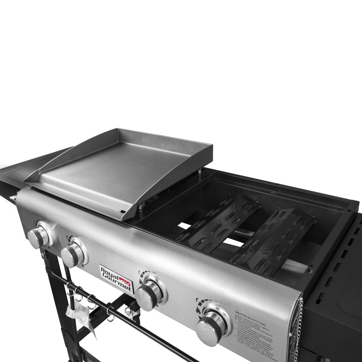 bc9d89c8525 Royal Gourmet 4Burners Portable Propane Gas Grill and Griddle