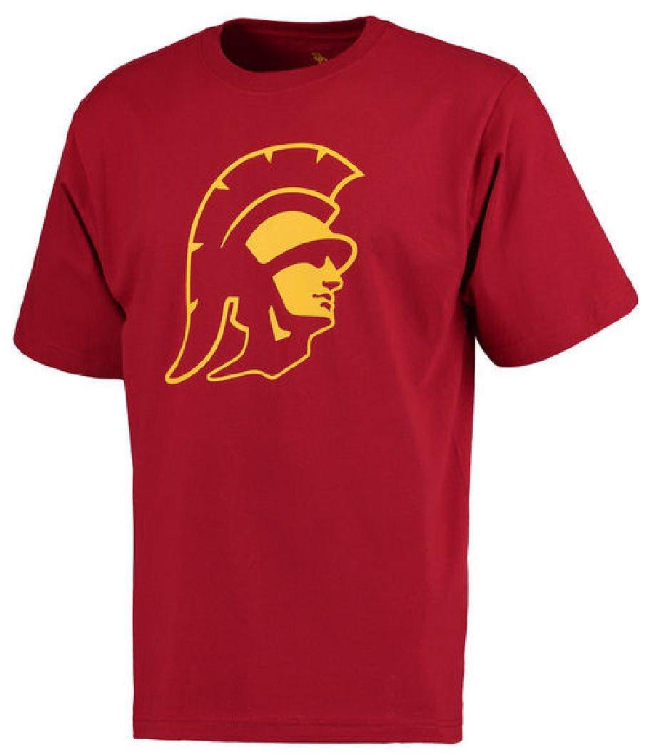 Silver Star Merchandising Usc Trojans Cardinal Trojan Head Short Sleeve 4259 Shirts