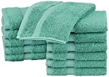 Pinzon Organic Cotton Washcloths (12 Pack), Mineral Green