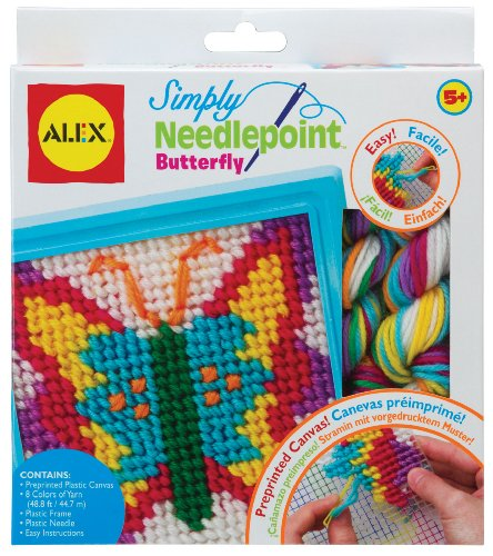 ALEX Toys Craft Simply Needlepoint - Butterfly (395-B) by ALEX Toys
