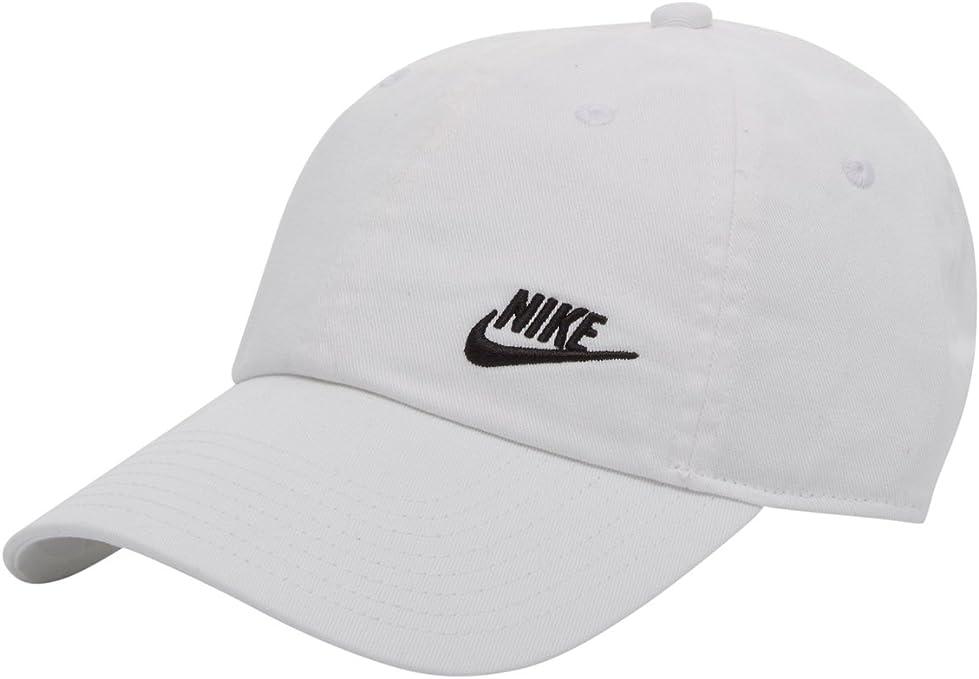 Nike Twill H86 Gorra de Tenis, Mujer, Blanco (Blanco/Negro), Talla ...