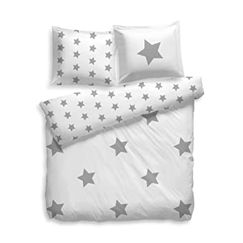F2f Bettwasche Flanell Stars Sterne I Grosse 155x220 80x80 Cm I Farbe