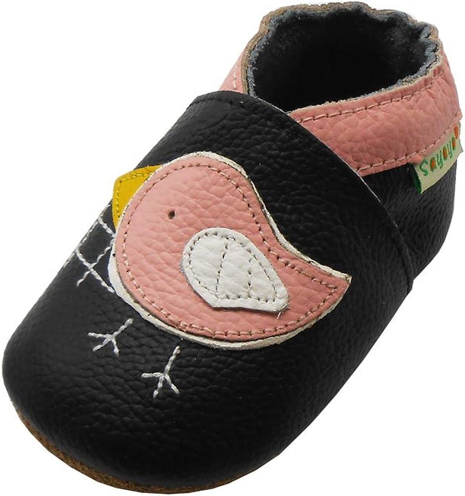 Sayoyo Baby Cute Bird Soft Sole Leather Infant Toddler Prewalker Shoes