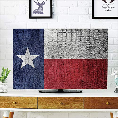 Cheap  LCD TV dust Cover Strong Durability,Western Decor,Texas State Flag Painted on Luxury..
