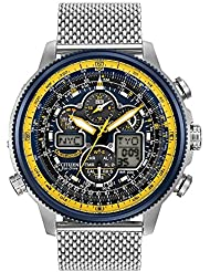 Mens Citizen Eco-Drive Blue Angels Navihawk A-T Watch JY8031-56L