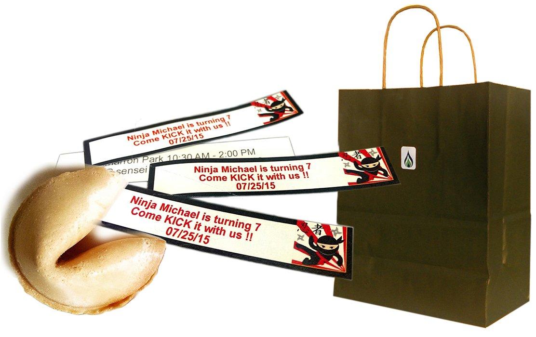Greenfire Custom Fortune Cookies, For Birthdays, Full Color Fortune Printing, Premium Vanilla, Bulk Quantity (60 count)