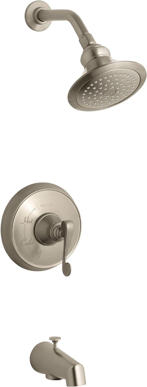Kohler K T16113 4 Bv Revival Rite Temp Pressure Balancing Bath And Shower Faucet Trim With Scroll Lever Handle And Standard Valve Not Included Vibrant Brushed Bronze Bathtub And Shower Diverter Valves