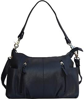 Musqari multipurpose leather handbags for women cum shoulderbag (pure  leather bag) (Blue) adbd3866d4
