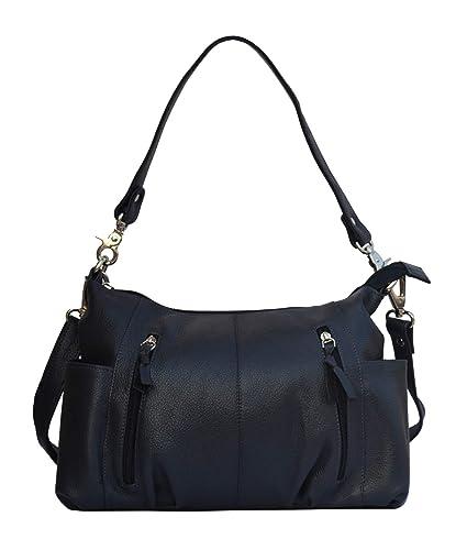 d58fdd1029ae Musqari multipurpose leather handbags for women cum shoulderbag (pure leather  bag) (Blue)  Amazon.in  Shoes   Handbags