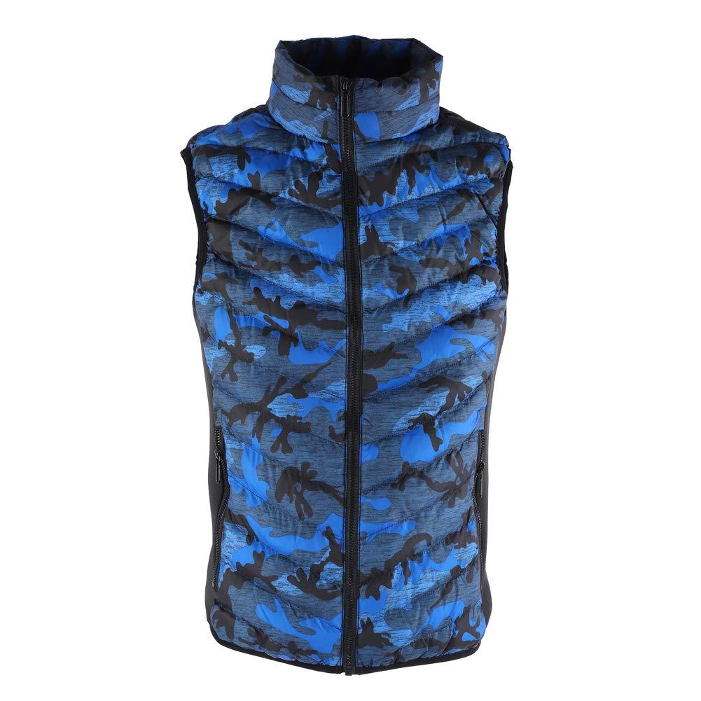 Heated Vest, Lightweight USB Rechageable Blue Heating Warm Vest for Winter Keep Warm Outdoor Dilwe