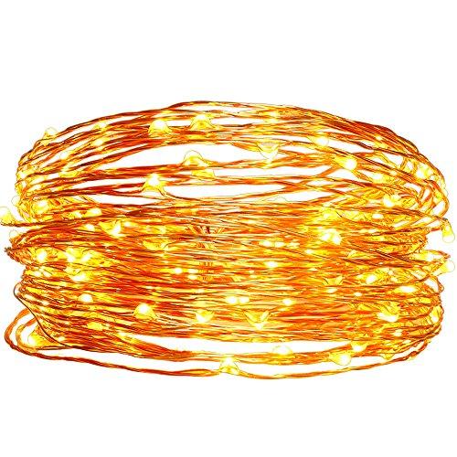 Solar Christmas String Lights,easyDecor Copper ...