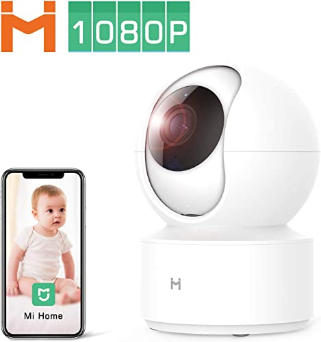 1080P Wireless Smart Home Indoor Baby IP Security Camera IMILAB,2.4Ghz WiFi Surveillance Dome Camera Pet Nanny Monitor with Two-Way Audio,HD Night Vision,Pan Tilt,Remote View No SD Card Included
