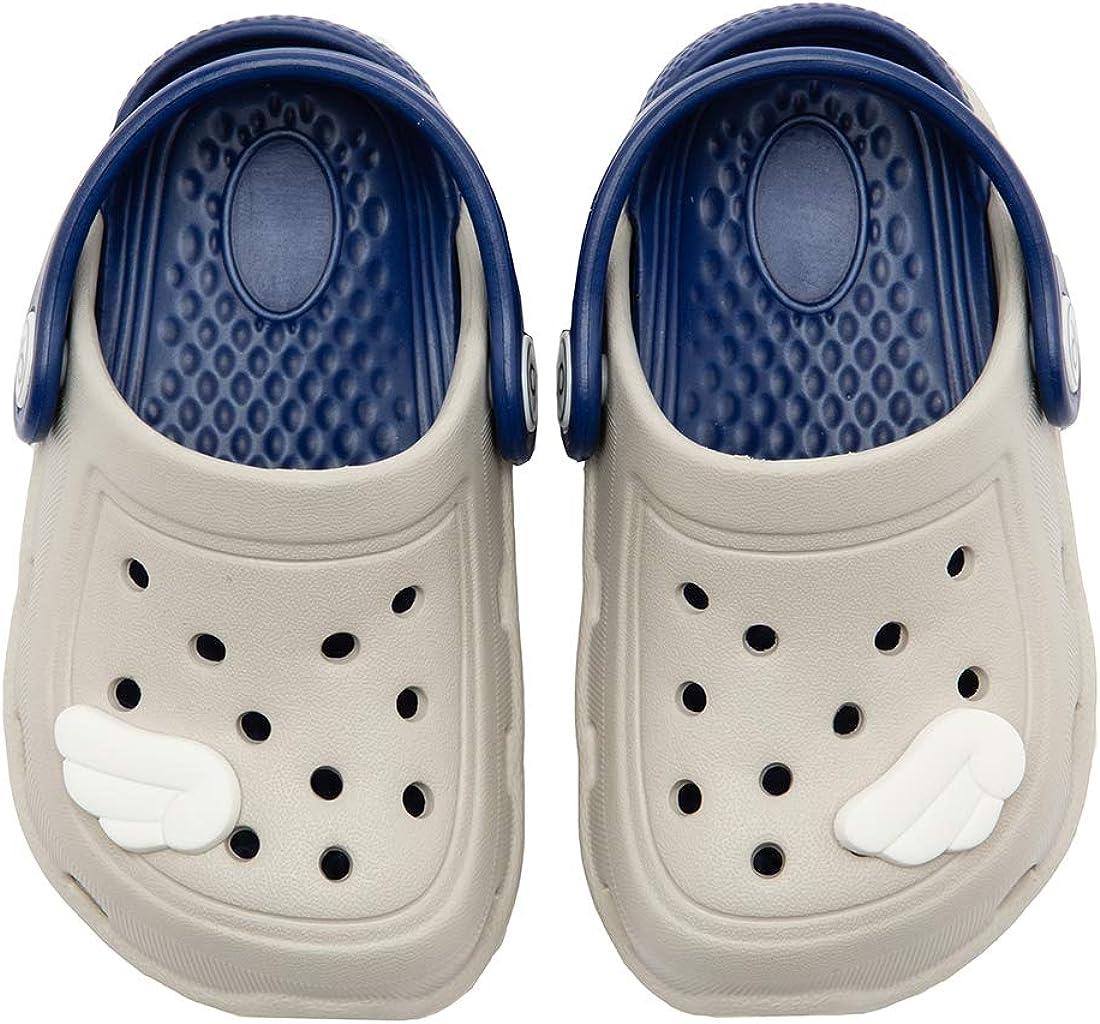 Toddler//Little Kids dripdrop Girls Comfort Clogs Toddler Slip On Garden Slippers Kids Water Sandals Lightweight Boys Summer Pool Beach Shoe