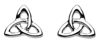 Heritage Women's Sterling Silver Celtic Stud Earrings 9g219nZPW