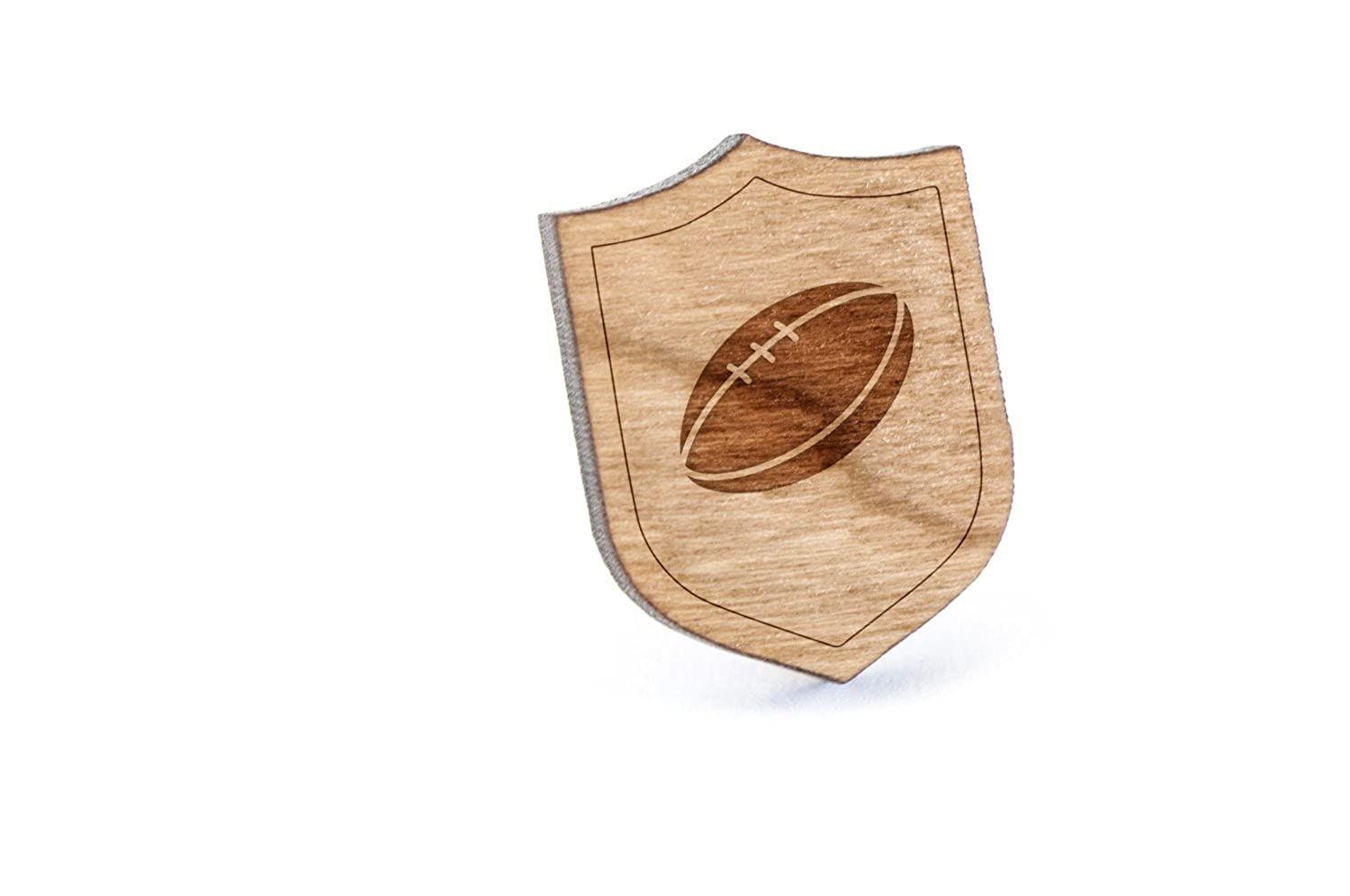 Rugby Lapel Pin Wooden Pin