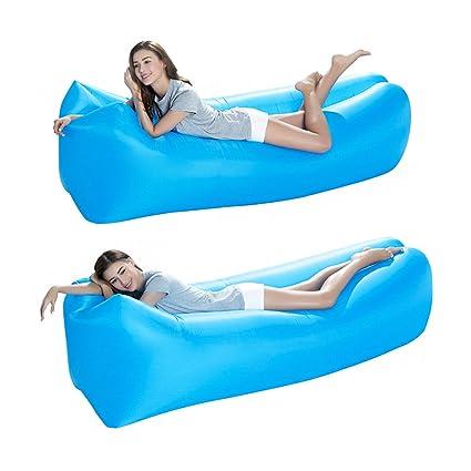 Inflable sofá tumbona silla de compresión saco de dormir, camas de aire, portátil,
