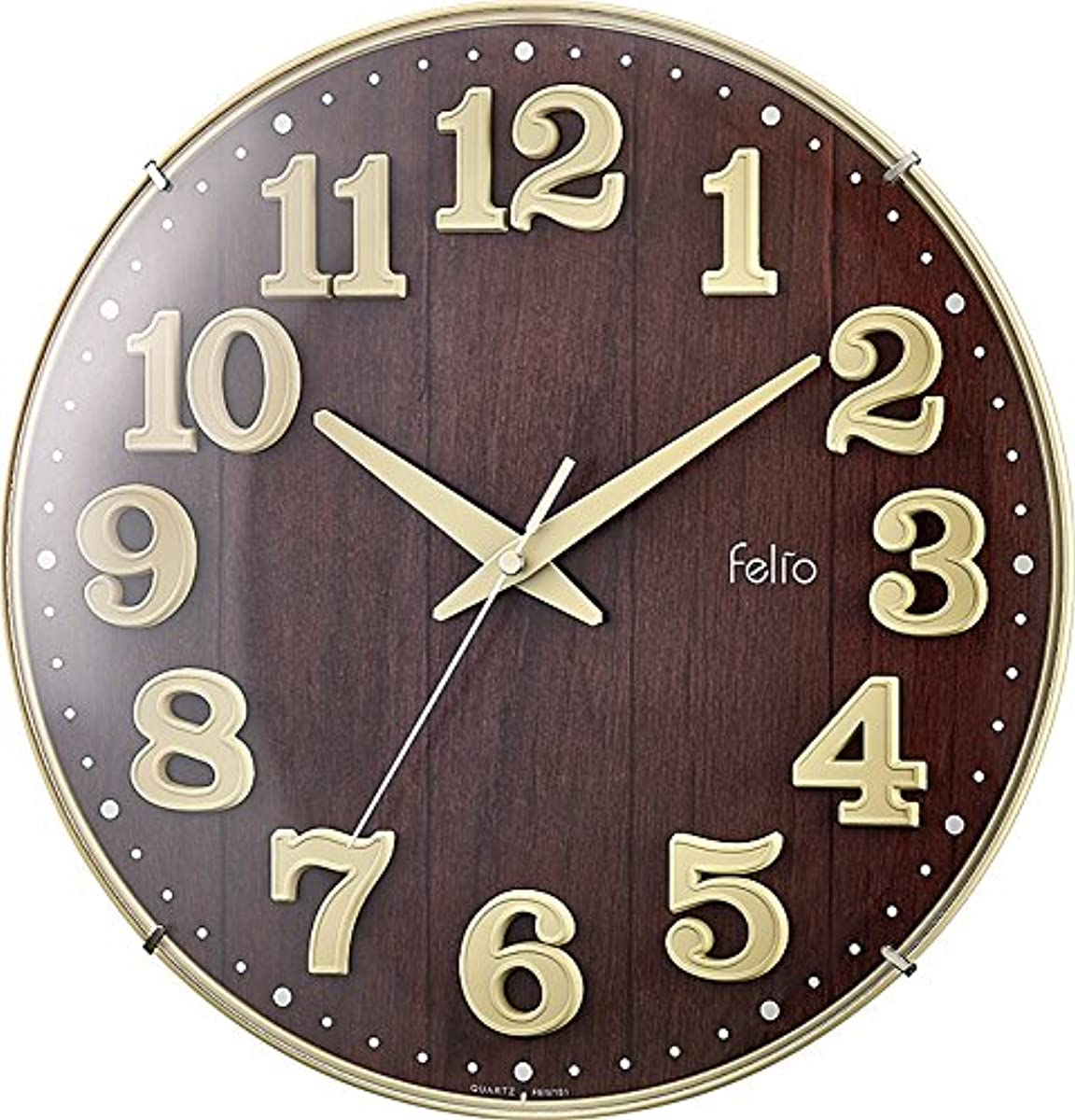 [해외] FELIO 탁상시계벽시계 아이보리리 약 높이30.8×폭.30.8×길이깊이5.7CM