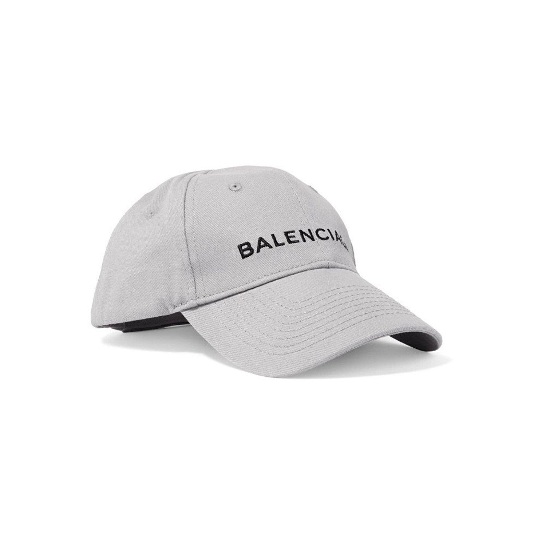 BALENCIAGA バレンシアガ ロゴ刺繍 ベースボールキャップ 帽子 cap コットン 452245 352B4 [並行輸入品] B07BFPKVTR グレー グレー