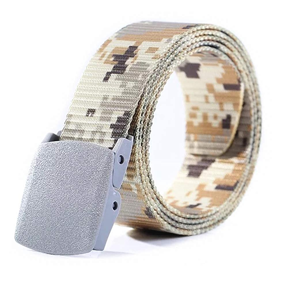 Fashion Adjustable Nylon Canvas Dress /& Jeans Waist Belt for Men Women Camouflage Color Hard Plastic Buckle